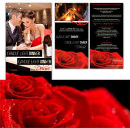Bodensee-Design - Referenz Flyer - Candle-Light-Dinner Hotel-zum-Ochsen
